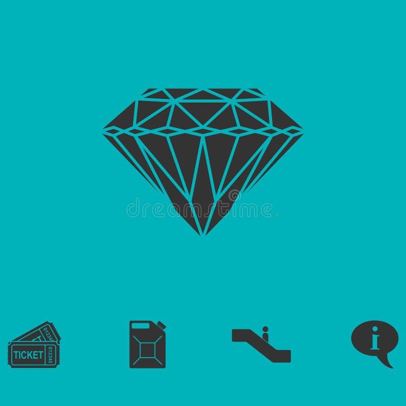 Vlak diamantpictogram vector illustratie