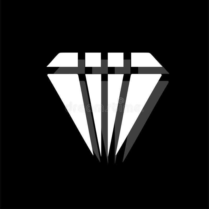 Vlak diamantpictogram royalty-vrije illustratie