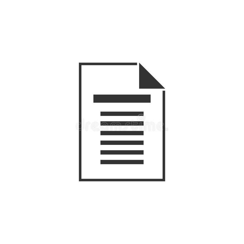 Vlak documentpictogram vector illustratie
