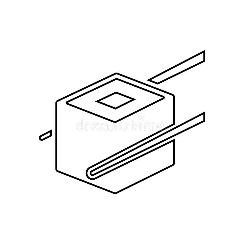 Vlak een twee sushipictogram Element van het eten voor mobiel concept en webtoepassingenpictogram Overzicht, dun lijnpictogram vo stock illustratie