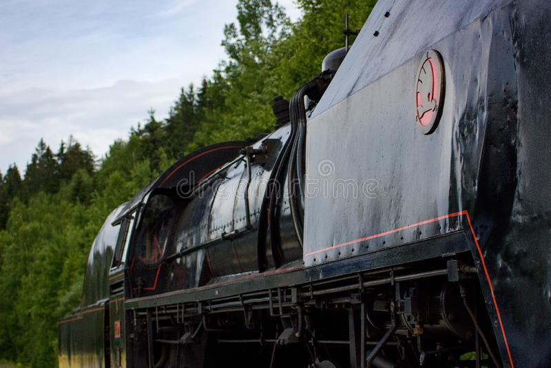 Vlak för lokomotiva för ångadrevparní royaltyfri foto