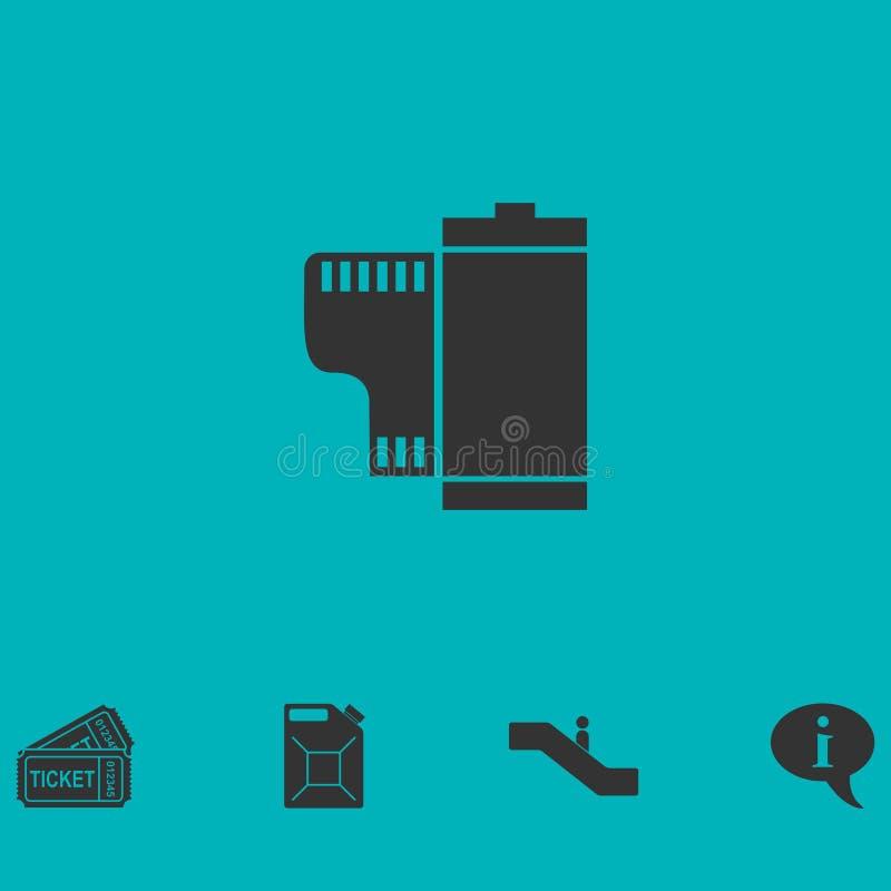 Vlak filmpictogram vector illustratie