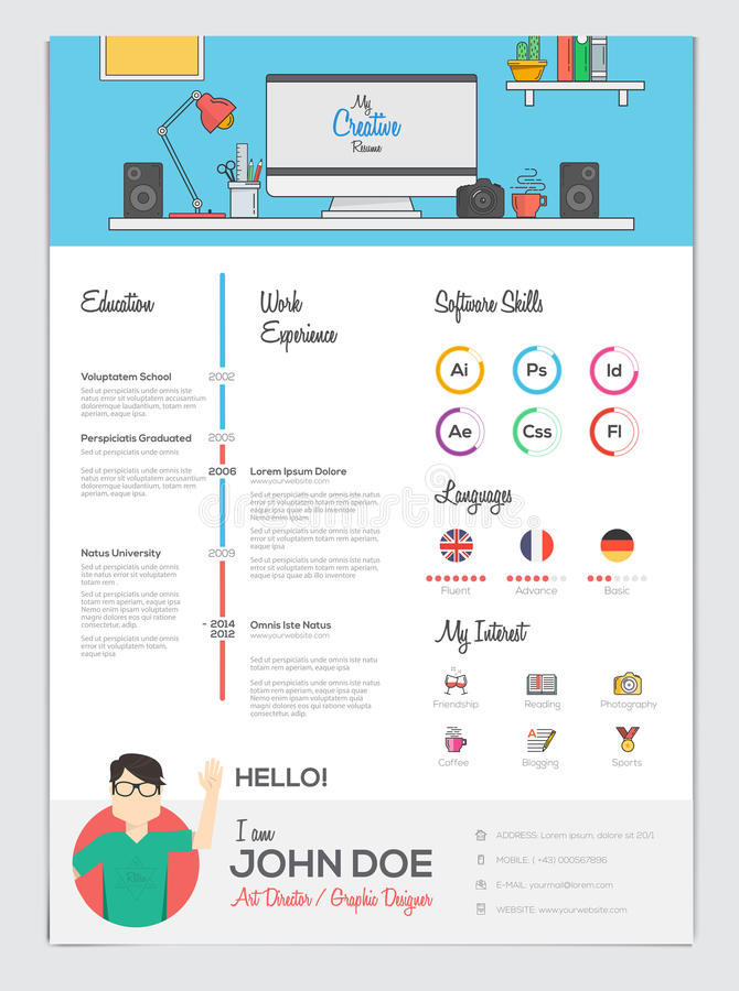 Vlak hervat met Infographics stock illustratie