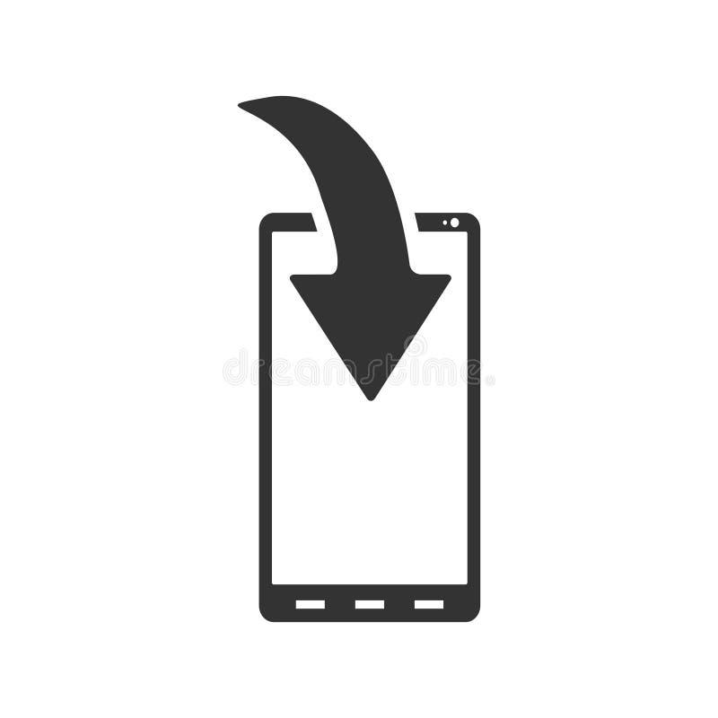 Vlak het Berichtpictogram van de telefoondownload royalty-vrije illustratie