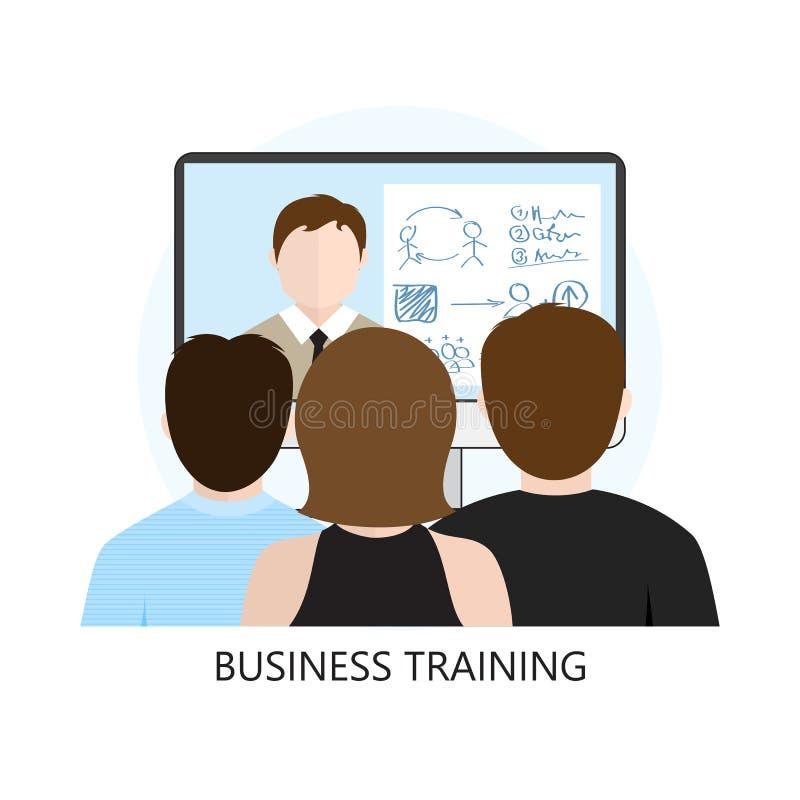 Vlak het Ontwerpconcept van het bedrijfs Opleidingspictogram stock illustratie