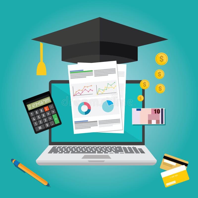 Vlak het ontwerpconcept van onderwijsfinanciën royalty-vrije illustratie