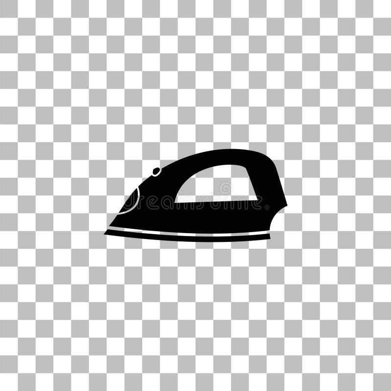 Vlak ijzerpictogram royalty-vrije illustratie