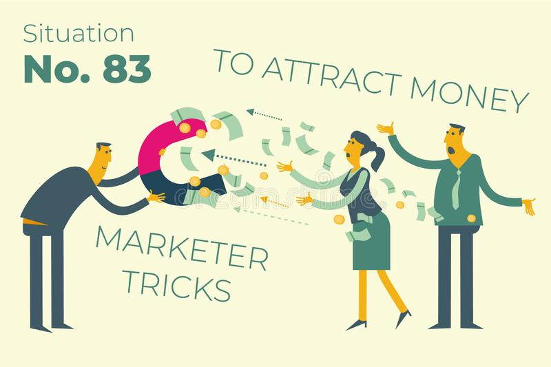 Vlak illustratieontwerp voor presentatie, Web, landingspagina, infographics: de mannen van beeldverhaalkarakters zakenlieden en v vector illustratie
