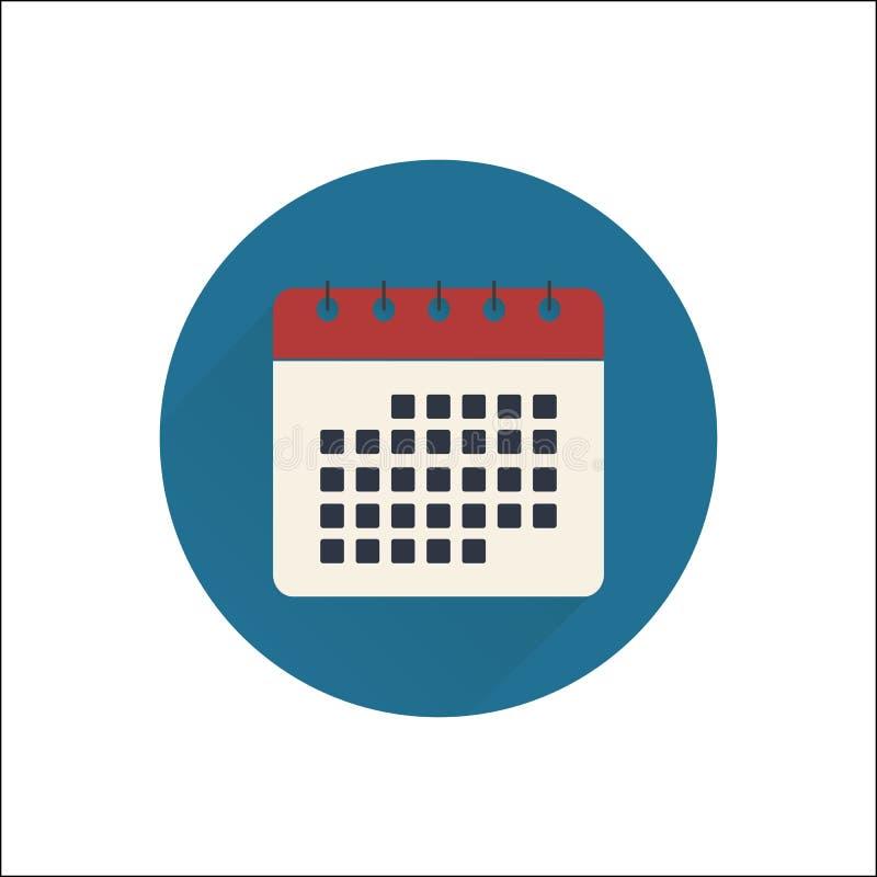 Vlak kalenderpictogram stock afbeeldingen