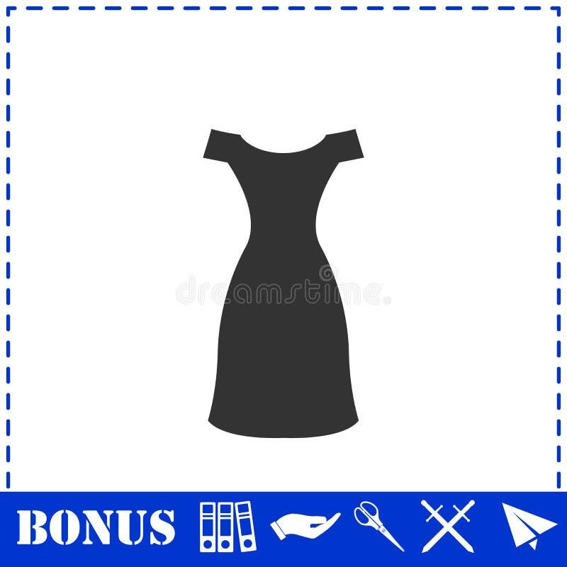 Vlak kledingspictogram royalty-vrije illustratie