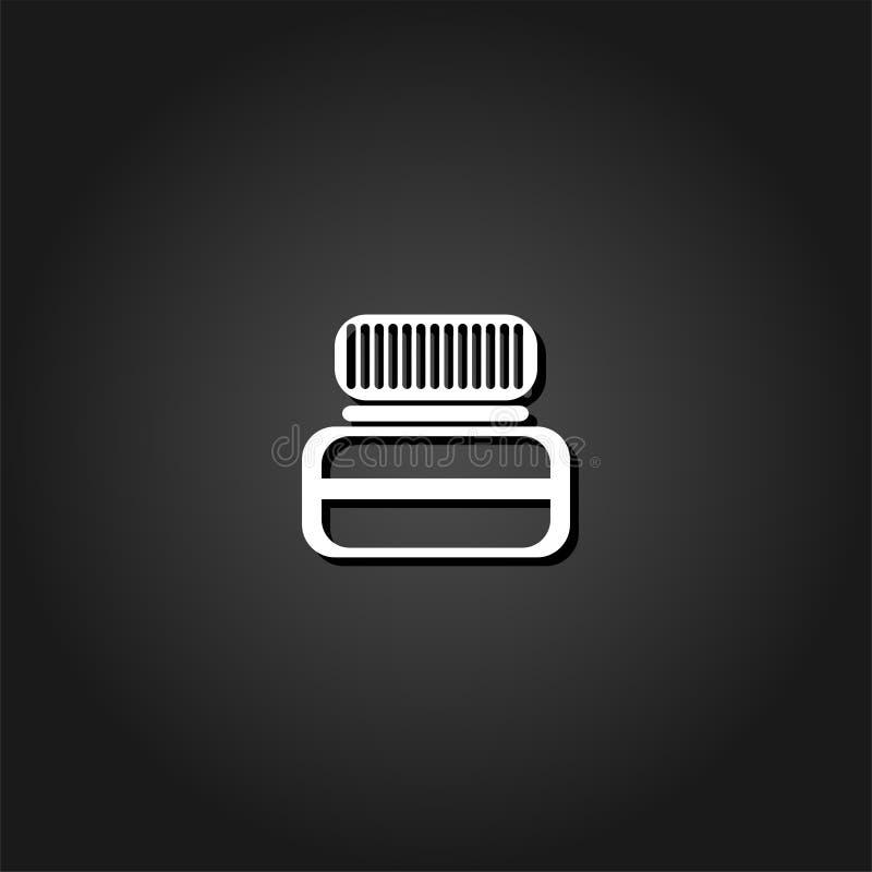 Vlak kruikpictogram stock illustratie