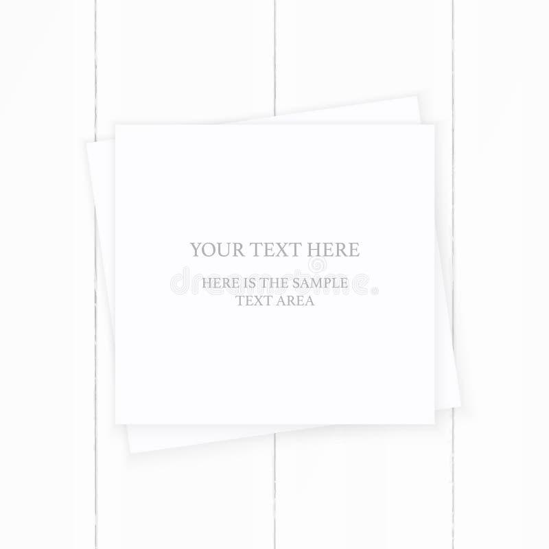 Vlak leg het hoogste document van de menings elegante witte samenstelling bruin op houten achtergrond Het ontwerp van de Kerstmis stock illustratie