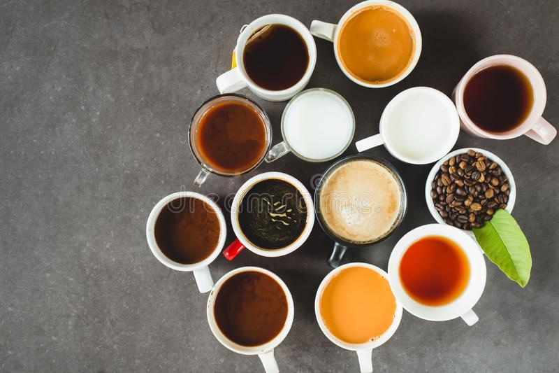 Vlak leg koffieconcept stock fotografie