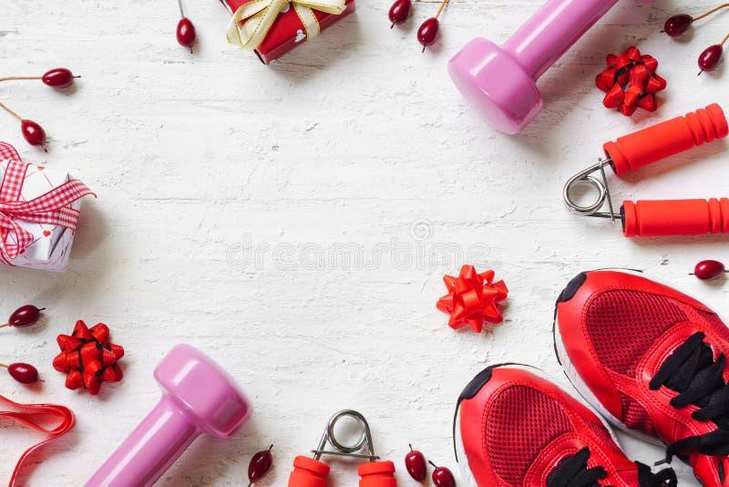 Vlak leg van Vrolijke Kerstmis en Gelukkig nieuw jaar en om het even welk holidy PR stock fotografie