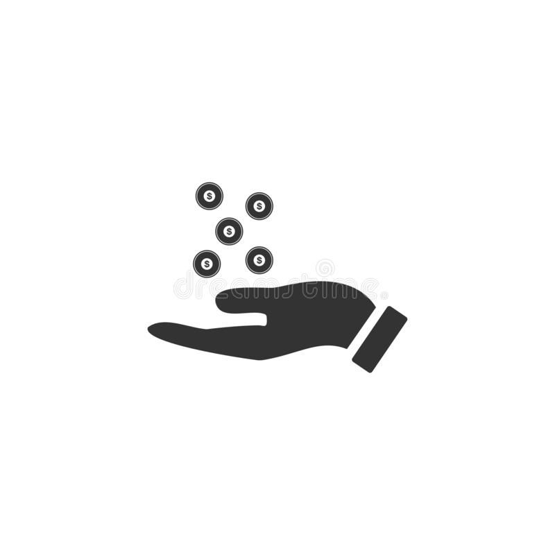 Vlak liefdadigheidspictogram royalty-vrije illustratie