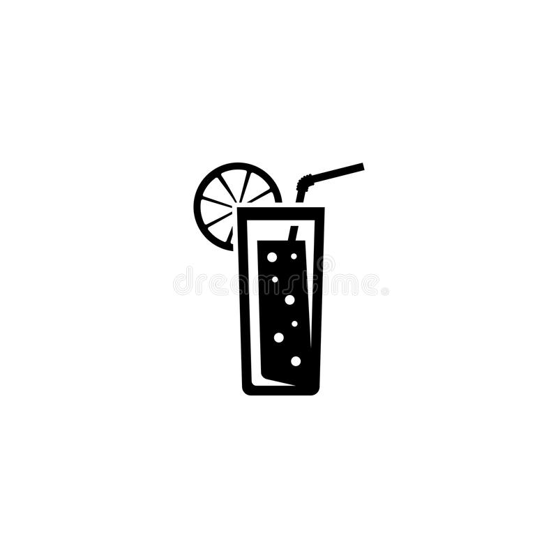 Vlak limonade Vectorpictogram royalty-vrije illustratie