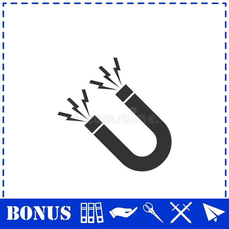 Vlak magneetpictogram stock illustratie