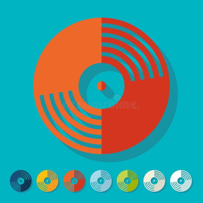 Vlak Ontwerp Vinyl verslag vector illustratie