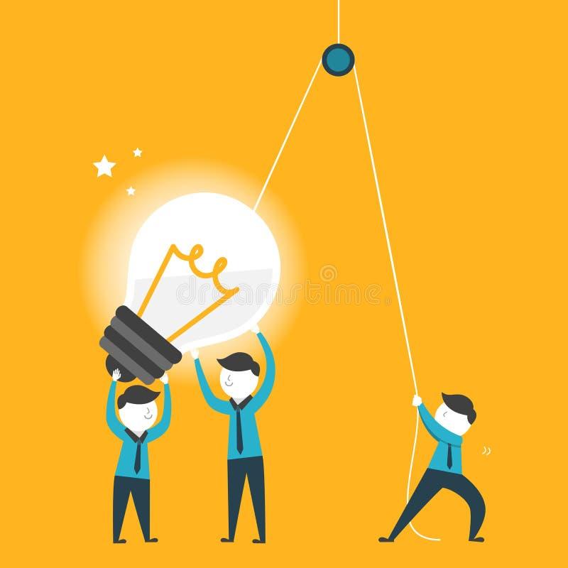 Vlak ontwerp voor het concept van het teamwerk stock illustratie