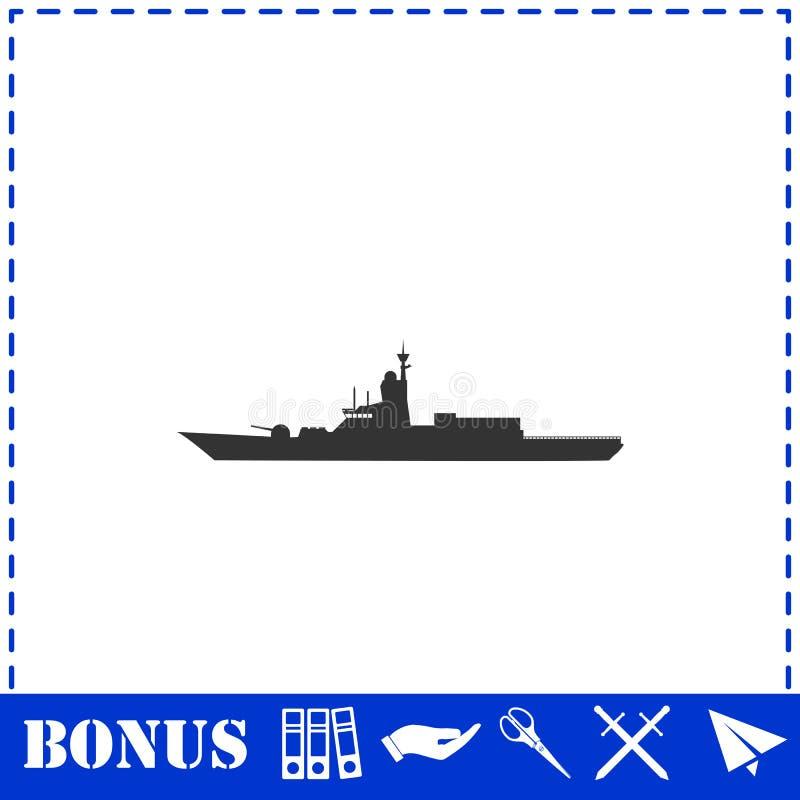 Vlak oorlogsschippictogram vector illustratie