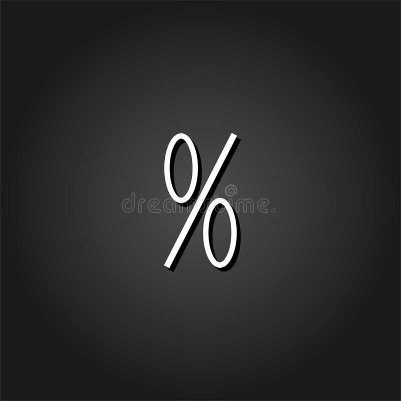 Vlak percentenpictogram vector illustratie