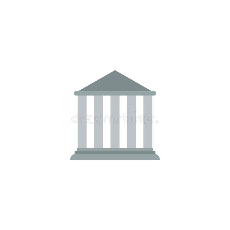 Vlak Pictogramhof Element Vectorillustratie van de Vlakke die Pictogrambouw op Schone Achtergrond wordt geïsoleerd Kan als Hof wo vector illustratie