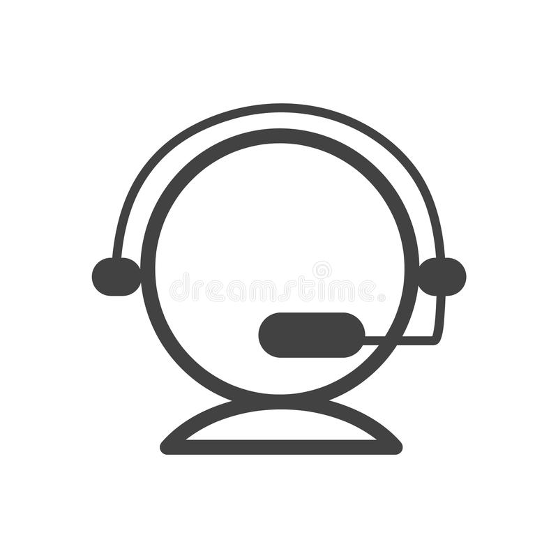 Vlak pictogramontwerp voor klantenondersteuning Bespreking aan ons Leef praatjesymbool royalty-vrije illustratie