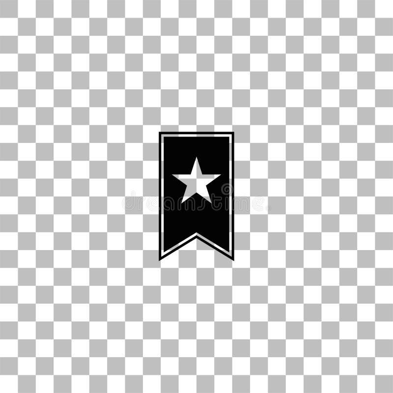 Vlak referentiepictogram royalty-vrije illustratie