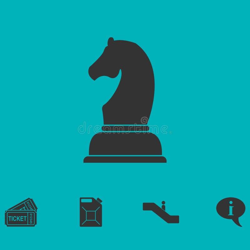 Vlak schaakpictogram royalty-vrije illustratie