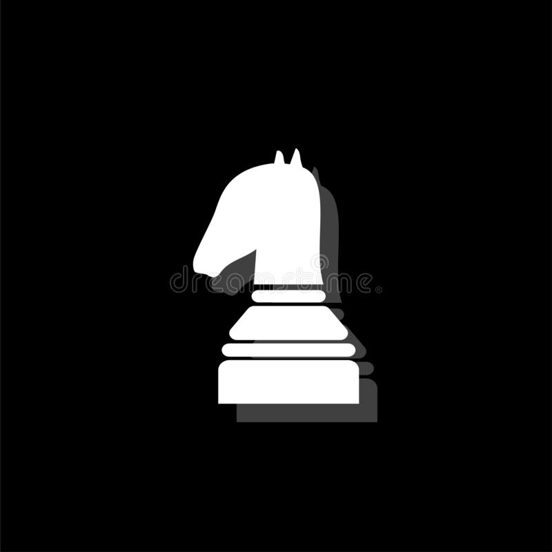 Vlak schaakpictogram stock illustratie