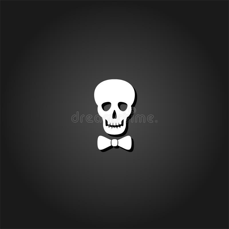 Vlak schedelpictogram stock illustratie