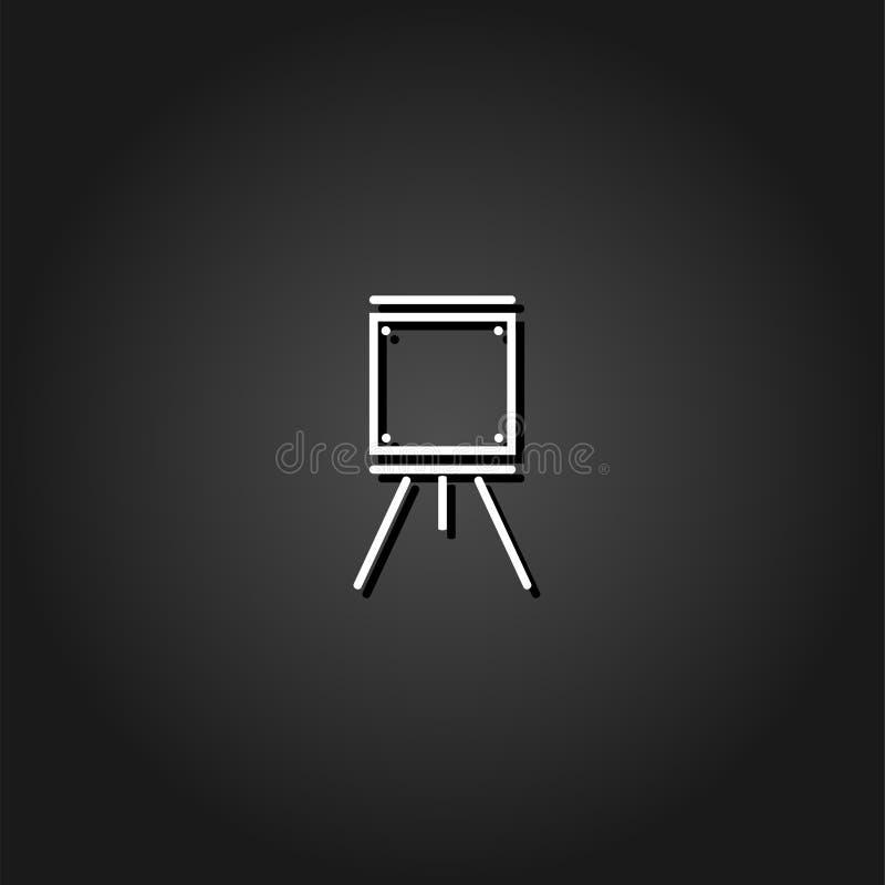 Vlak schildersezelspictogram vector illustratie