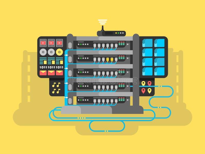 Vlak serverontwerp vector illustratie