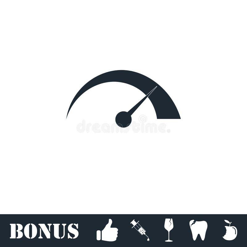 Vlak snelheidspictogram stock illustratie