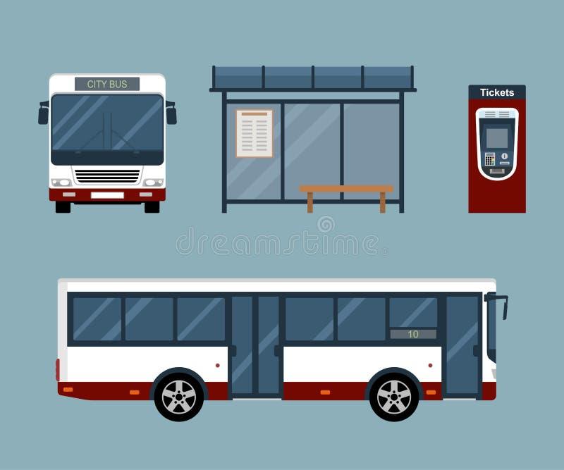 Vlak stijlconcept openbaar vervoer royalty-vrije illustratie