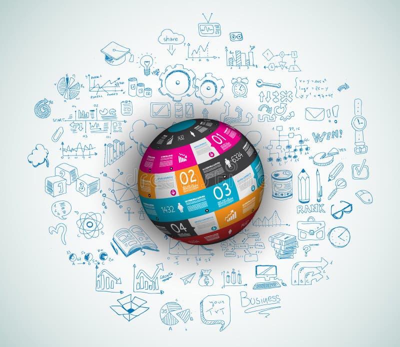 Vlak Stijlconcept voor Sociale Media, Agendaorganisatie en digitale marketing vector illustratie
