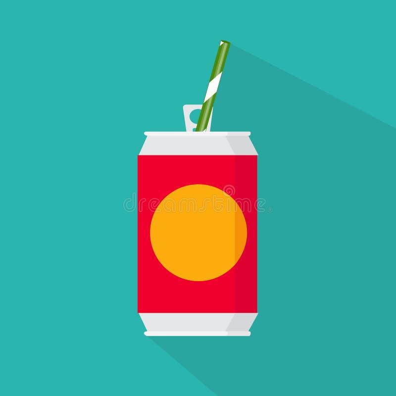 Vlak stijlpictogram De vectorillustratie van koude drank kan geïsoleerd vector illustratie