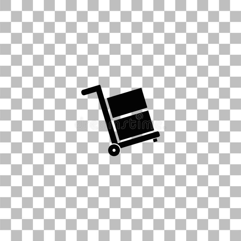 Vlak stootkarpictogram vector illustratie
