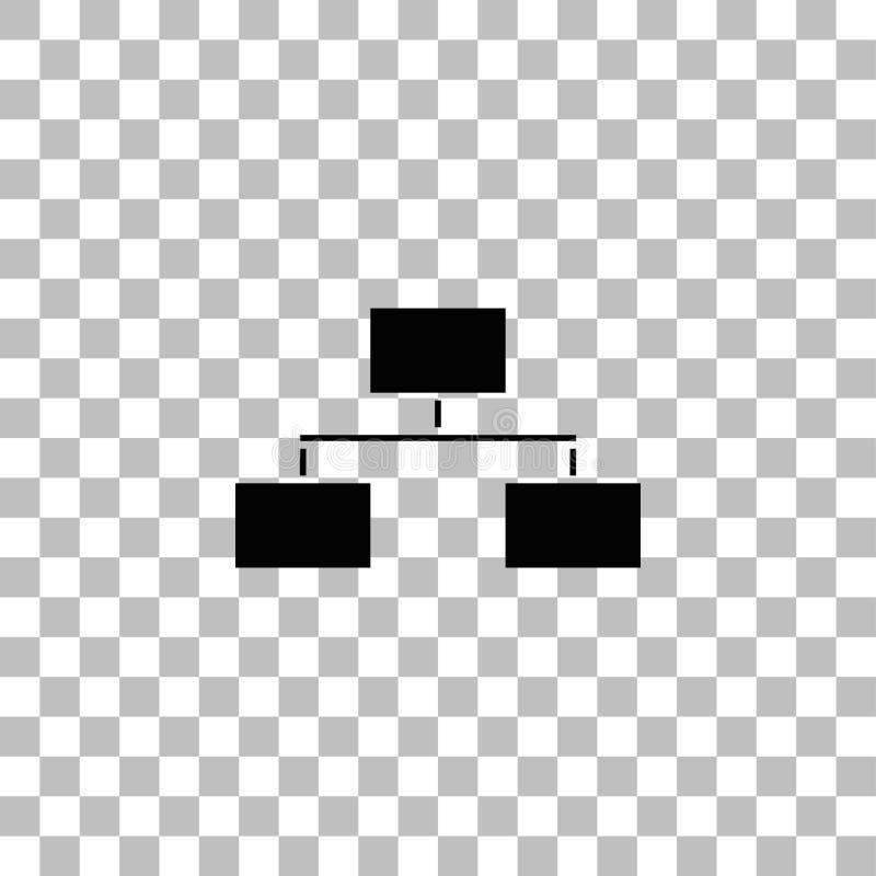Vlak stroomschemapictogram royalty-vrije illustratie