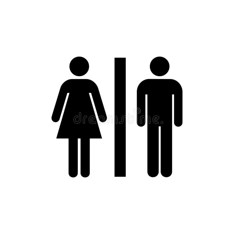 Vlak toiletpictogram stock illustratie