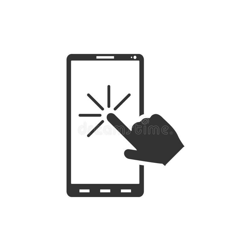Vlak touch screenpictogram vector illustratie