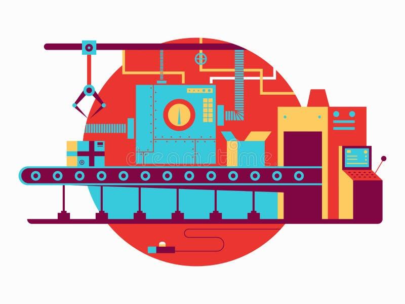 Vlak transportbandontwerp vector illustratie