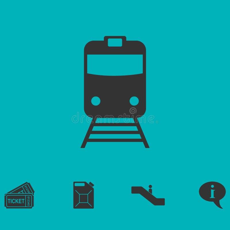 Vlak treinpictogram royalty-vrije illustratie