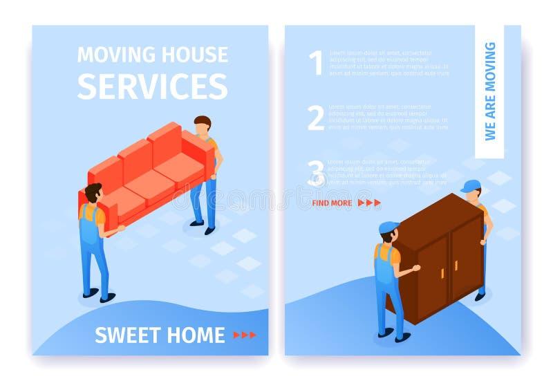 Vlak Vastgesteld Bewegend Zoet het Huisbeeldverhaal van de Huisdiensten royalty-vrije illustratie