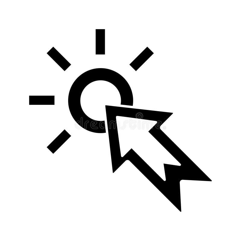 Vlak vectorpictogram voor Webontwerp stock illustratie