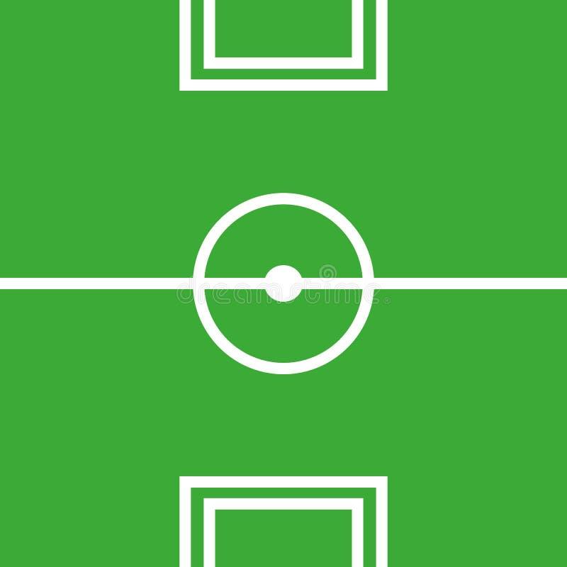 Vlak voetbal groen gebied, voetbalgras Vectorstadion Voetbal met lijnmalplaatje royalty-vrije illustratie