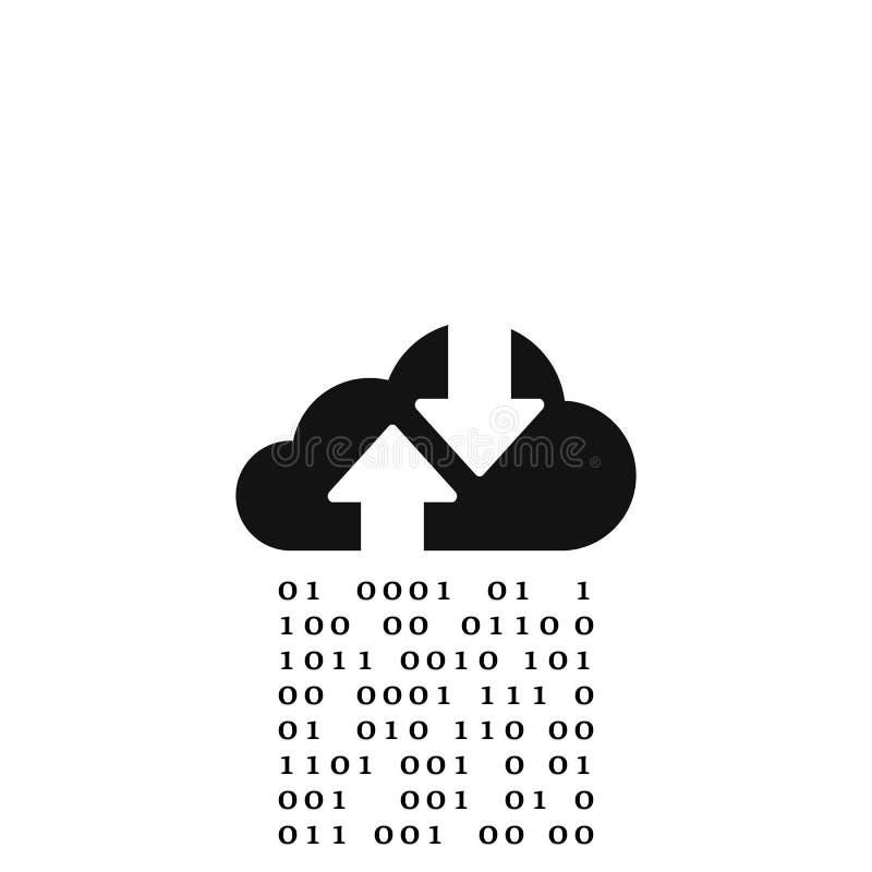 Vlak wolkenpictogram Vectorsymbool op witte achtergrond vector illustratie