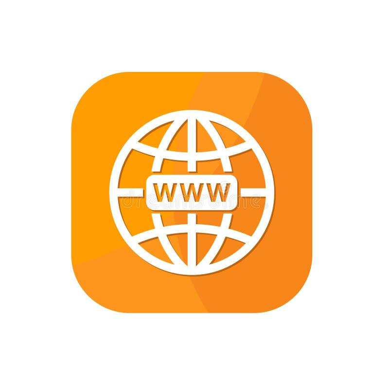 Vlakke browser van de wereldbol App Pictogram Grafische Middelen stock illustratie