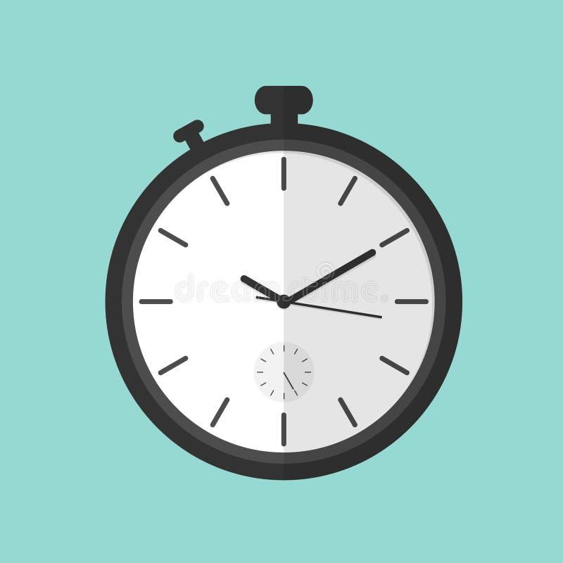 Vlakke de illustratievector van de chronometerklok vector illustratie