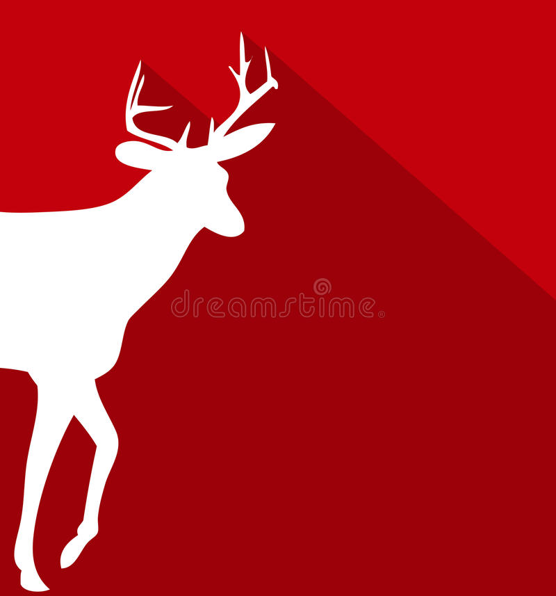 Vlakke de ontwerpenachtergrond van Kerstmisherten vector illustratie